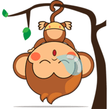 Chiki the cute monkey version 2 sticker #4773529