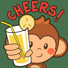 Chiki the cute monkey version 2 sticker #4773533