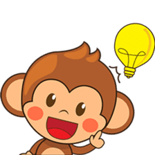 Chiki the cute monkey version 2 sticker #4773534