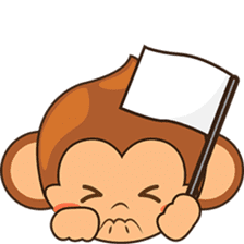 Chiki the cute monkey version 2 sticker #4773535
