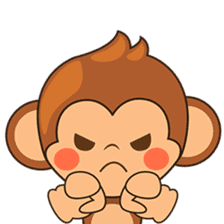 Chiki the cute monkey version 2 sticker #4773536
