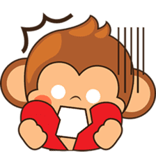 Chiki the cute monkey version 2 sticker #4773537
