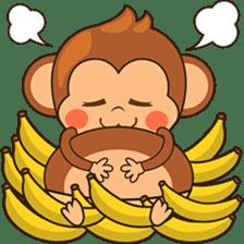 Chiki the cute monkey version 2 sticker #4773538