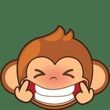Chiki the cute monkey version 2 sticker #4773540
