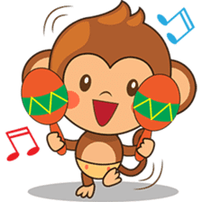 Chiki the cute monkey version 2 sticker #4773542
