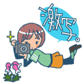 """mountain girl """"WARASHICHYAN"""" sticker #4774951"""