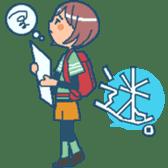 """mountain girl """"WARASHICHYAN"""" sticker #4774956"""
