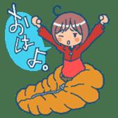 """mountain girl """"WARASHICHYAN"""" sticker #4774961"""