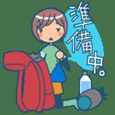 """mountain girl """"WARASHICHYAN"""" sticker #4774969"""