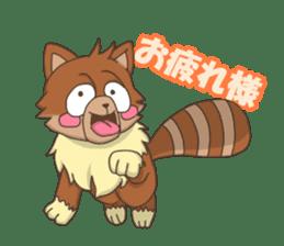 """Junk raccoon dog """"TERESUKE"""" sticker #4776613"""