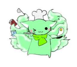 the Nine-tailed cat sticker #4776711