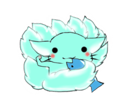 the Nine-tailed cat sticker #4776724