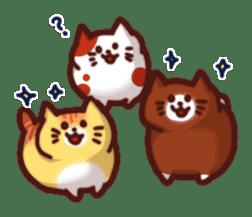 Marshmallow cats sticker #4777086