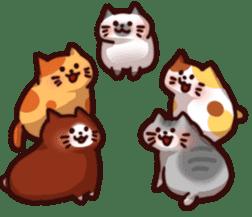 Marshmallow cats sticker #4777103