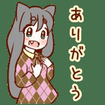 Cat ear girl sticker #4777345