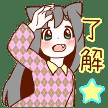 Cat ear girl sticker #4777346