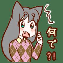 Cat ear girl sticker #4777350