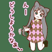 Cat ear girl sticker #4777351