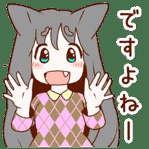 Cat ear girl sticker #4777360