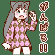 Cat ear girl sticker #4777362