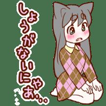 Cat ear girl sticker #4777364