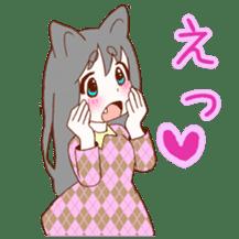 Cat ear girl sticker #4777366