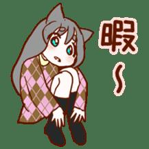 Cat ear girl sticker #4777368