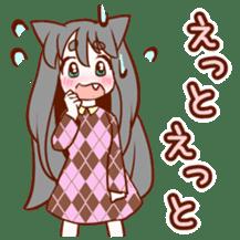 Cat ear girl sticker #4777370