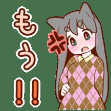 Cat ear girl sticker #4777374