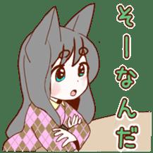 Cat ear girl sticker #4777376