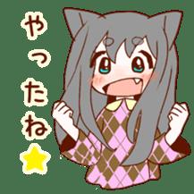 Cat ear girl sticker #4777377