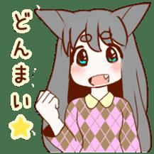Cat ear girl sticker #4777380