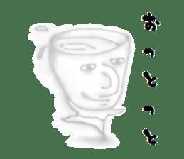 Cup like a man sticker #4779401