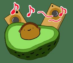 DailyLife of Avocado-chan sticker #4781003