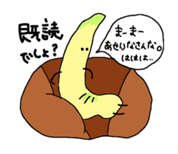 Young bamboo shoots sticker #4782026