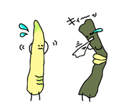 Young bamboo shoots sticker #4782050