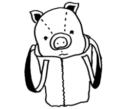 piggy is comming 3 sticker #4782225