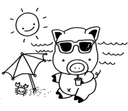 piggy is comming 3 sticker #4782229