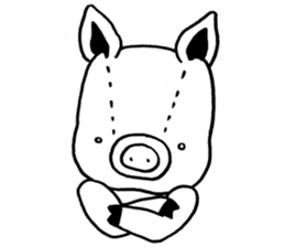 piggy is comming 3 sticker #4782246
