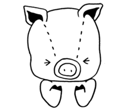 piggy is comming 3 sticker #4782253