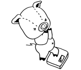 piggy is comming 3 sticker #4782259