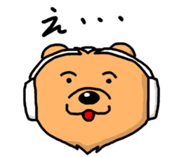Wolf of a headphone sticker #4782551