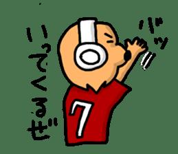 Wolf of a headphone sticker #4782560