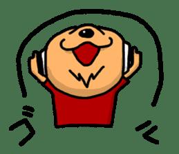Wolf of a headphone sticker #4782583