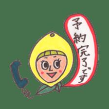 office worker lemon sticker #4782586