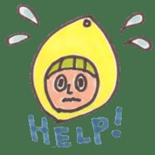 office worker lemon sticker #4782589