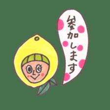 office worker lemon sticker #4782594