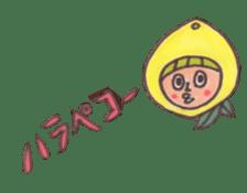 office worker lemon sticker #4782597