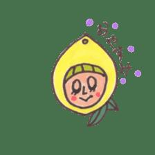 office worker lemon sticker #4782598