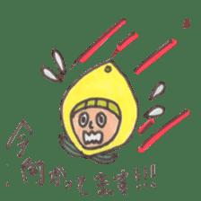 office worker lemon sticker #4782606